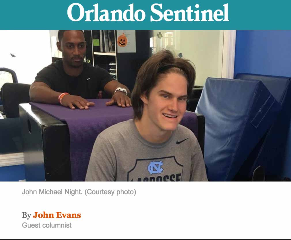 image of john michael night, orlando sentinel, article