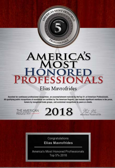 image of 2018 americas most honored professionals award, top 5