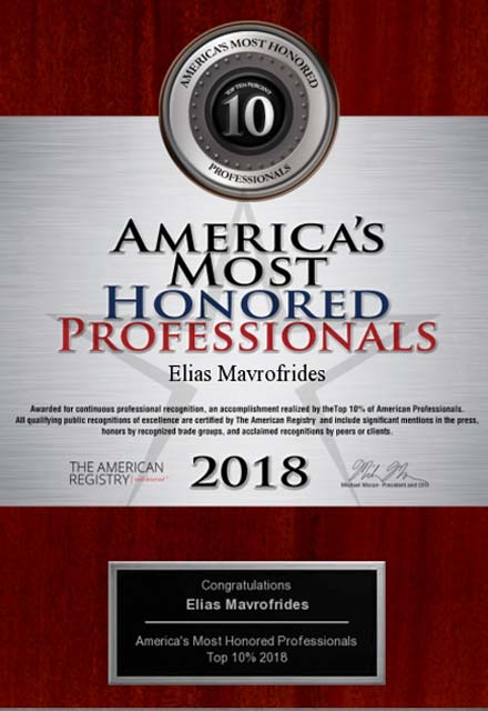 image of 2018 americas most honored professionals award, top 10