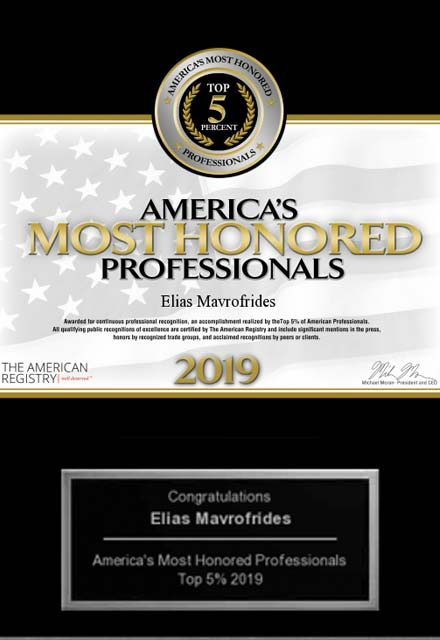 image of 2019 americas most honored professionals award, top 5