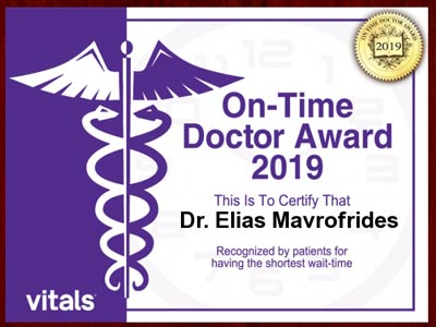 image of 2019 vitals on time patients award