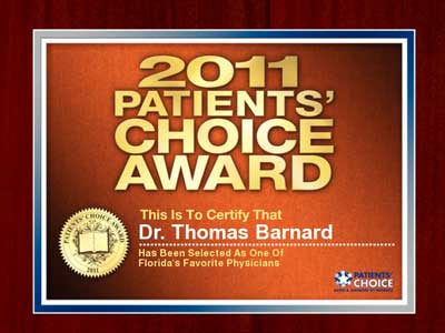 2011, patients choice award