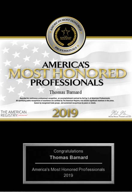image of 2019 america's most honored professionals award