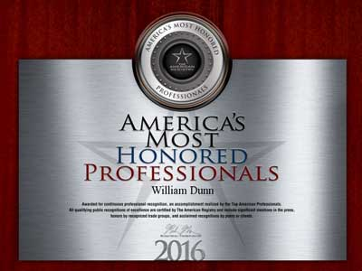 2016 most honored professionals award