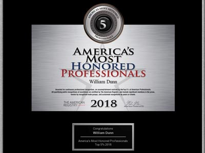 image of americas most honored professional award, 2018